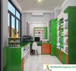 thiết kế thi công nhà thuốc tây tại tphcm 1