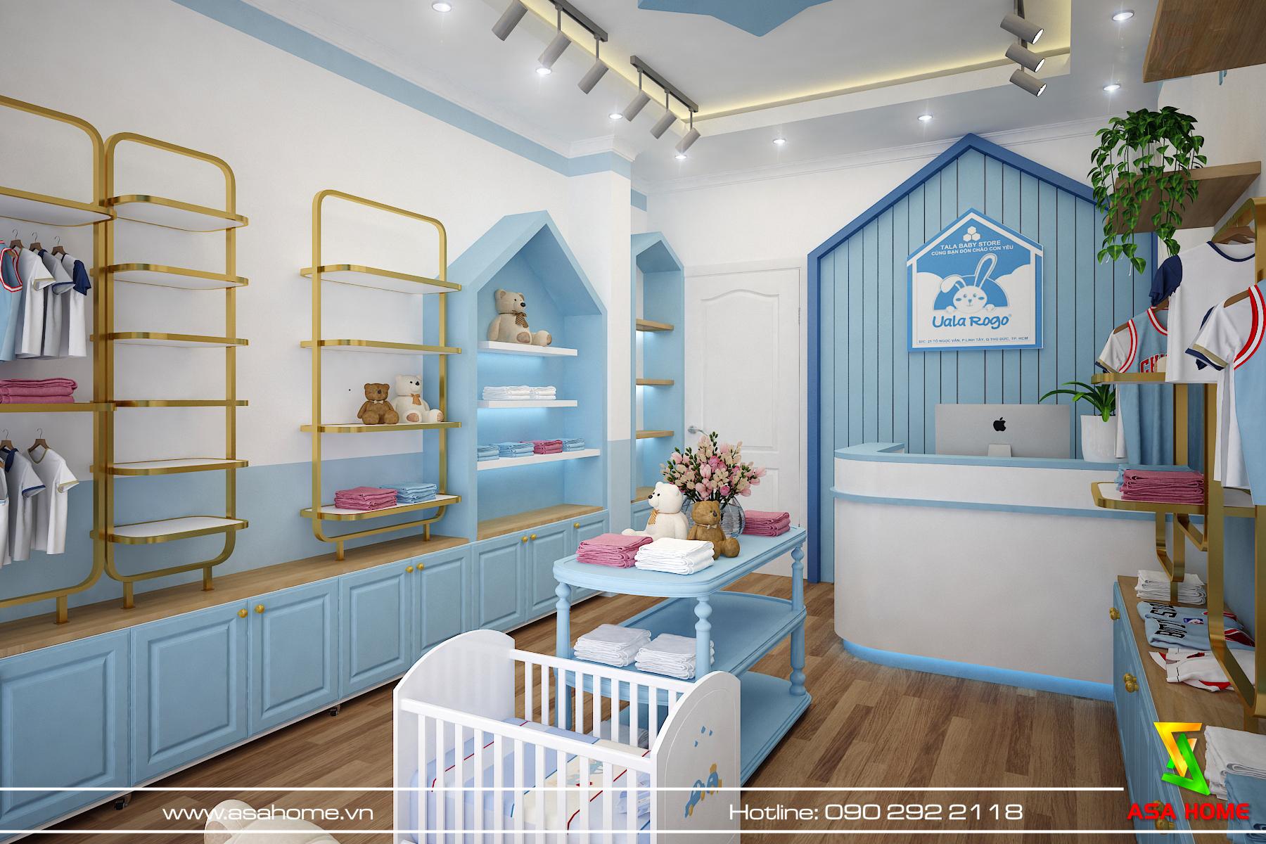Thiết kế thi công shop thời trang trẻ em Tala Baby Store Quận Thủ Đức