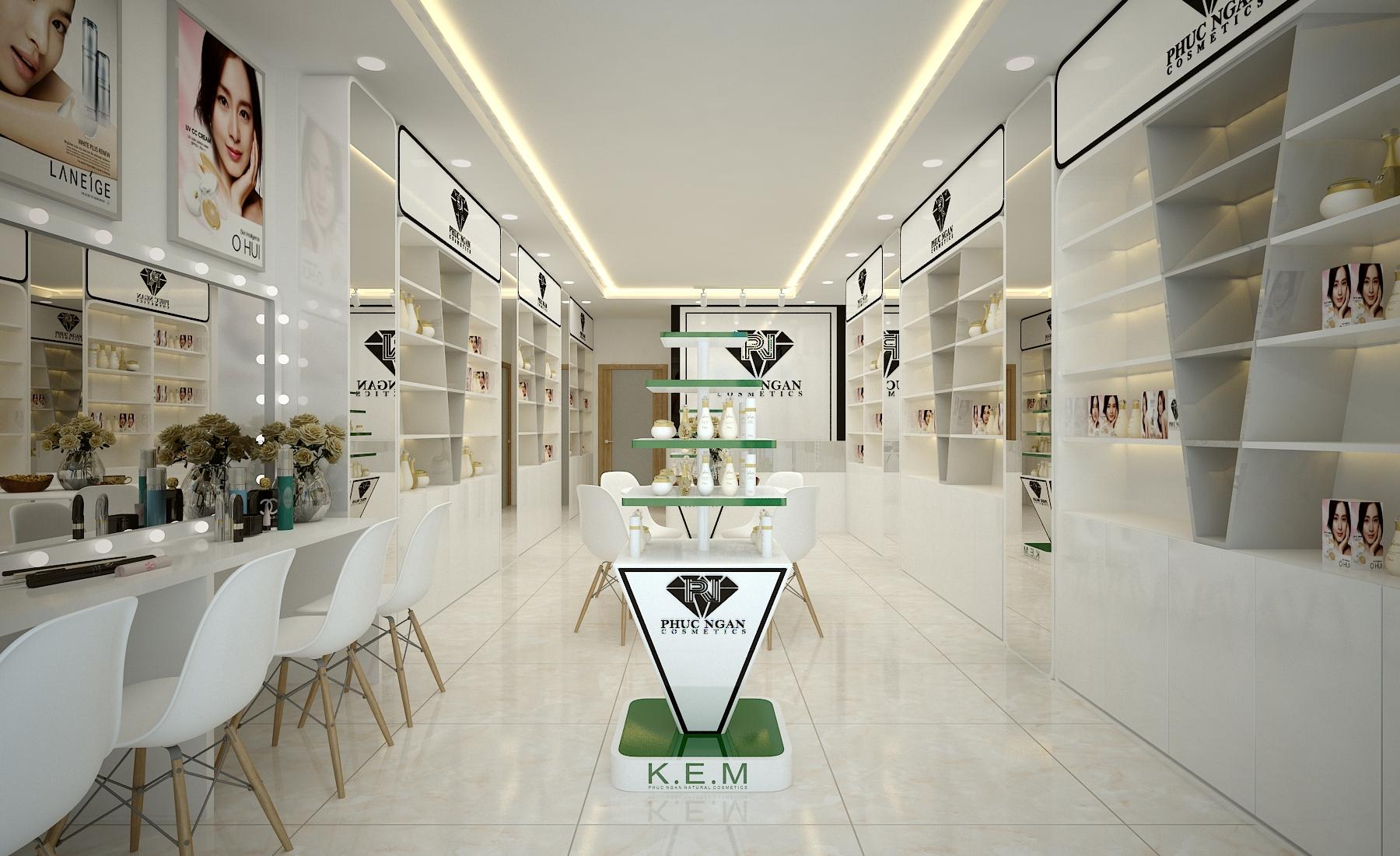 Tư vấn thiết kế shop mỹ phẩm KEM