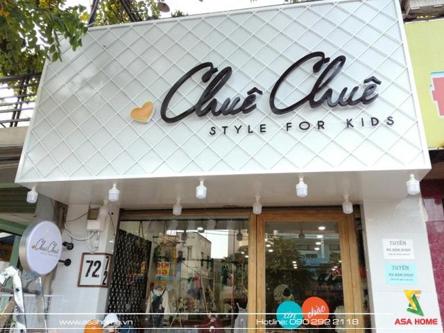 Thi công shop thời trang trẻ em Quận 12