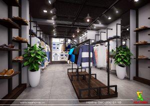 Thiết kế shop thời trang nam ONE TN 2