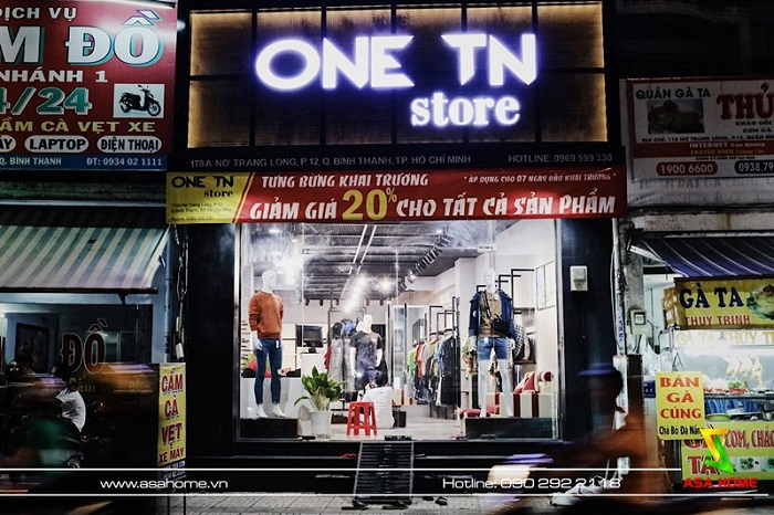 Hình ảnh thực tế sau thi công shop thời trang ONE TN