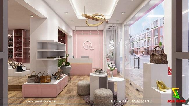 thiết kế shop giày dép Quỳnh 3