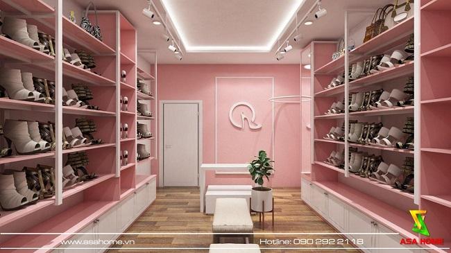 thiết kế shop giày dép Quỳnh 5