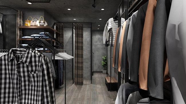 thiết kế shop thời trang nam Lozalo 4