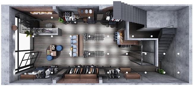 thiết kế shop thời trang nam Lozalo