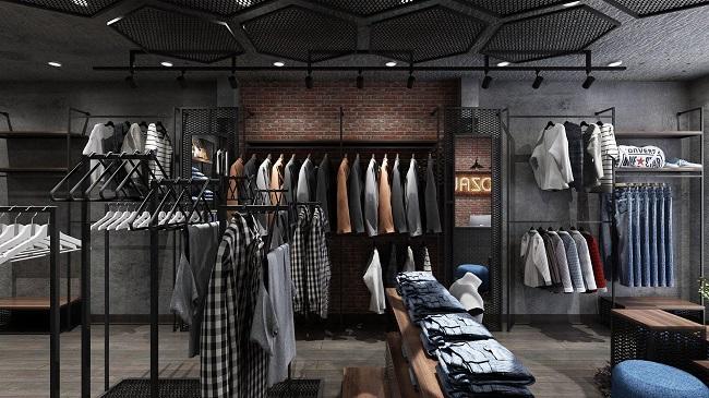 thiết kế shop thời trang nam Lozalo 3