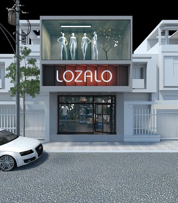 thiết kế shop thời trang nam Lozalo 7
