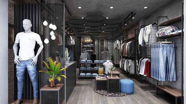 thiết kế shop thời trang nam Lozalo 2