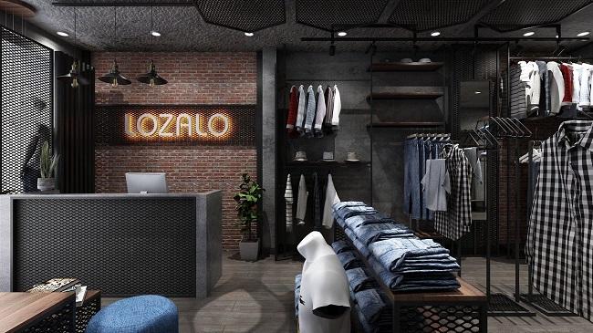 thiết kế shop thời trang nam Lozalo 1