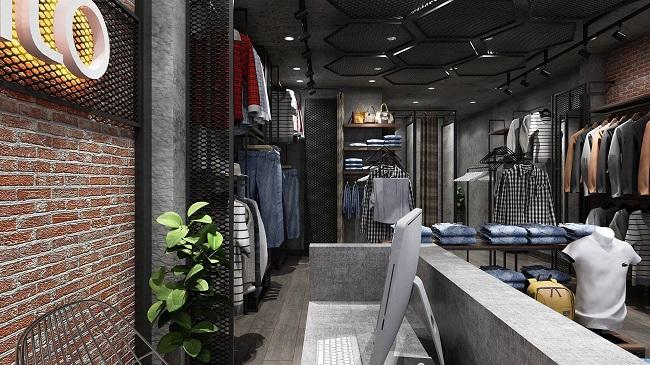 thiết kế shop thời trang nam Lozalo 5