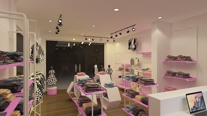 Mẫu thiết kế shop thời trang trẻ em Baby Star