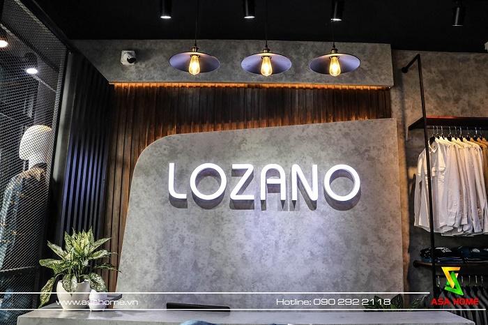 Thi công Shop Thời trang Nam LOZANO tại Gò Vấp hiện đại - nam tính nhất TpHCM