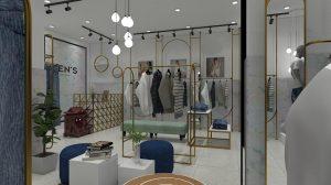 Tư vấn thiết kế shop thời trang nam Zen's closet miễn phí