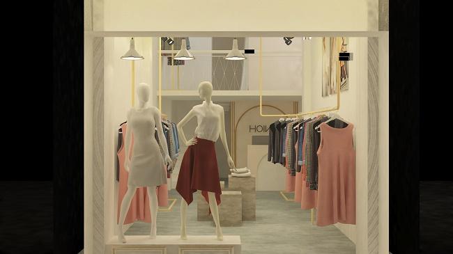 Thiết kế shop thời trang trẻ phong cách hiện đại - HOIVU tại Quận 3