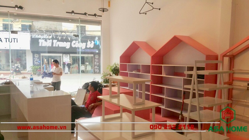 Thiết kế shop thời trang trẻ em Lady Kiss