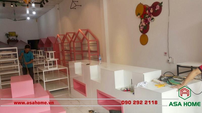 Công trình thiết kế shop thời trang trẻ em đẹp